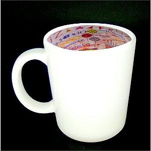 Caneca Cerâmica 325 ml Branca Motto Mug - Feliz Aniversário ShopVirtua3000® (1934) - 01 Unidade