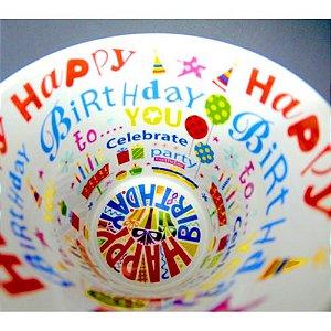 Caneca Cerâmica 325 ml Branca Motto Mug - Happy Birthday Live (579) - 36 Unidades (Caixa Fechada)