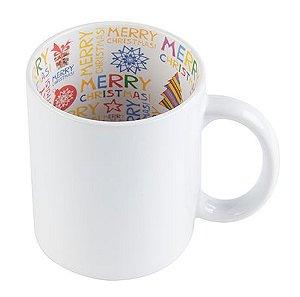 Caneca Cerâmica Branca Motto Mug Resinada P/ Sublimação - Feliz Natal 325 ml ShopVirtua3000®  (578) - 01 Unidade