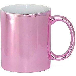 Caneca Cerâmica Cromada Pink P/Sublimação 325ml ShopVirtua3000® (1980) - 36 Unidades