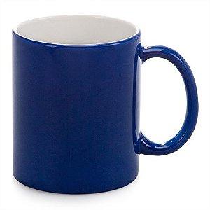 Caneca Cerâmica Mágica Azul Fosca Opaca 325ml Resinada P/ Sublimação (B081) - 01 Unidade