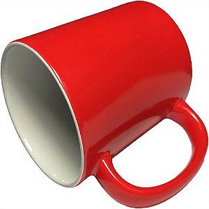 Caneca Cerâmica Neon Vermelho Externa P/Sublimação 325ml (B140) - 36 Unidades
