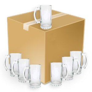 Caneca Chopp Vidro - 500 Ml - Crystal Lisa - 15 Cm (590) - 24 Unidades (Caixa Fechada)