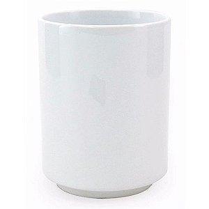 Copo de Chá Japonês em Cerâmica Branca 325ml Resinada P/ Sublimação (B040) (Sem alça) - 01 Unidade