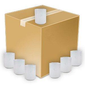 Copo de Chá Japonês em Cerâmica Branca 325ml Resinada P/ Sublimação (B040) (Sem alça) - 36 Unidades (Caixa Fechada)