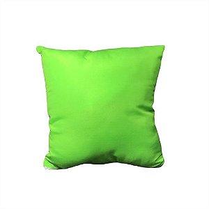 Capa para Almofada Verde 45x45cm em Microfibra para Sublimação - 01 Unidade