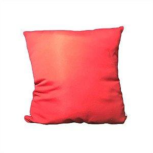 Capa para Almofada Vermelha 30x30cm em Microfibra para Sublimação - 01 Unidade