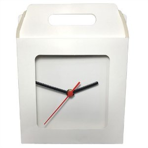 Caixinha Para Azulejo ou Relógio Totalmente Sublimável Em Papel Duplex 275g Com Janela 15x15 cm (AL3005) - 10 Unidades (Promoção Natal)