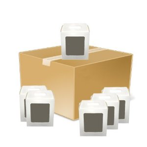 Caixinha Para Azulejo ou Relógio Totalmente Sublimável Reforçada Em Papel Duplex 275 Gr Com Janela 15x15 cm (AL3005) - 10 Unidades