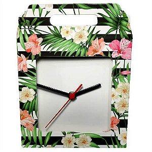 Caixinha Para Azulejo ou Relógio Totalmente Sublimável Reforçada Em Papel Duplex 275 Gr Com Janela 20x20 cm (AL3004) - 01 Unidade