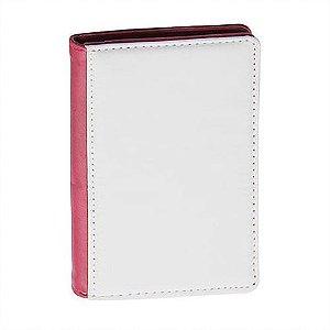 Porta Cartões Sublimático Couro Rosa Mecolour (C075) - 01 Unidade