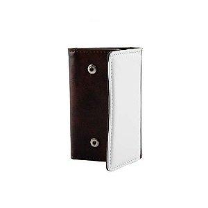 Porta Chaves Sublimático Couro Marrom ShopVirtua3000 (C065) - 01 Unidade