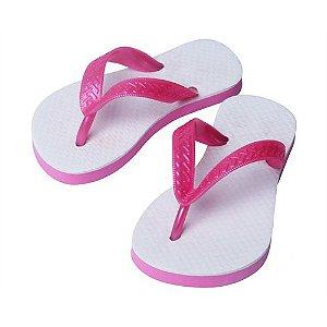 Chinelo Borracha Sublimático com Trad Rosa Pink Infantil 27/28 Embalado a Vácuo não Suja ou Amarela (JD3000) - 01 Unidade