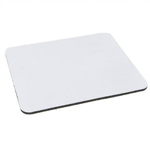 Mouse Pad Extra Branco Retangular 19x23cm P/Sublimação Com Base Em Neoprene Preto de 3mm Antiderrapante - Pacote à Vácuo Com 10 Unidades (AL8010)