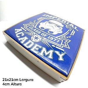 Moldura 3D para Azulejo em Mdf 3mm Branco Resinado para Sublimação Ultra Brilho 20x20cm (PH1306) - 01 Unidade