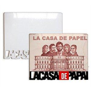 Porta Retrato La Casa de Papai Mdf 6mm Branco Retangular Resinado para Sublimação Ultra Brilho com Suporte (PH1400) - 01 Unidade