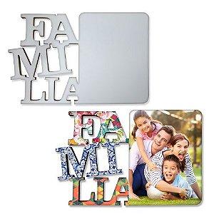 Porta Retrato Tema Família Mdf 6mm Branco Retangular Resinado para Sublimação Ultra Brilho com Suporte (PH1405) - 01 Unidade