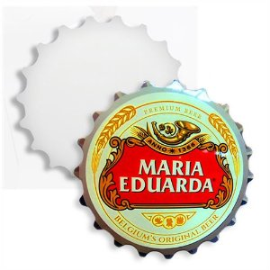 Tampa de Garrafa Decorativa 20cm em Mdf 3mm Branco Resinado para Sublimação Ultra Brilho (PH1305) - 01 Unidade