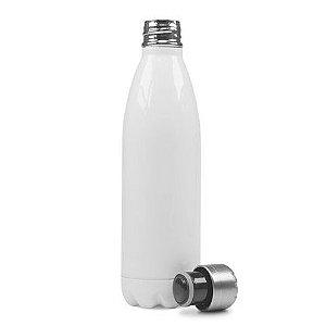 Garrafa Térmica Esportiva Sublimável em Inox Branca 500ml Fundo Estrela (ShopVirtua3000®) (1962) - 01 Unidade (PROMO BOAS FESTAS)
