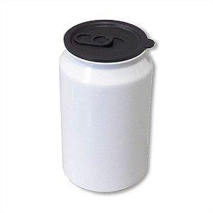 Squeeze Modelo Latinha em Alumínio Cor Branca Com Tampa 300ml para Sublimação - (B057) - 01 Unidade