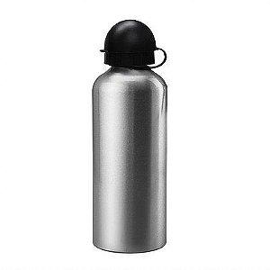 Squeeze Prata 600ml em Alumínio C/biqueira e tampa Bolinha P/Sublimação (ShopVirtua3000®) (1083) - 01 Unidade