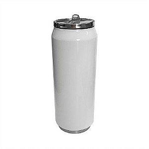 Squeeze Térmica Latinha Aço Inox Branco 500ml (B167) (Linha Inox Branco / Material: Aço Inoxidável) - 60 Unidades (Caixa Fechada)