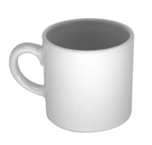 Xícara de Café Cerâmica Branca 90ml Resinada para Sublimação (2429) - 48 Unidades (Caixa Fechada)