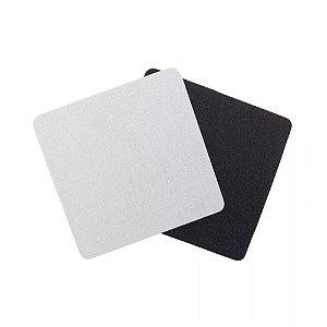 Porta Copos Quadrado Para Sublimação 8,5 cm Base Em Latex Preto de 3mm - Pacote à Vácuo Com 10 Unidades (AL11000)