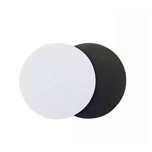 Porta Copos Redondo Para Sublimação 9cm Base Em Latex Preto de 3mm - Pacote à Vácuo Com 10 Unidades (AL11003)