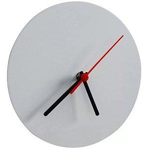 Relógio de Metal Branco Redondo para Sublimação Ultra Brilho 15x15 Cm - 01 Unidade (AL13000)