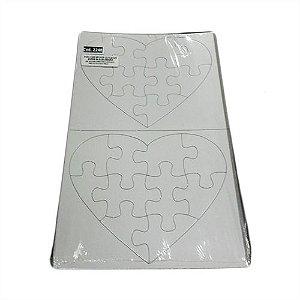 Quebra Cabeça Formato de Coração Com 10 Peças Para Sublimação - 01 Unidade