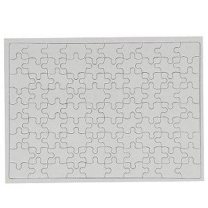 Quebra Cabeça para Sublimação Retangular A4 (20cmx28cm) 90 Peças - Pacote Com 05 Unidades (AL12005)