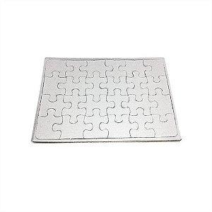 Quebra Cabeça Retangular A4 20cm x 28cm - 1.4mm - 250gr Verniz UV Resina Sublimática com Glitter (24 peças) - 01 Unidade