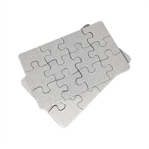 Quebra Cabeça Retangular A5 20cm x 15cm - 1.4mm - 250gr Verniz UV Resina Sublimática com Glitter (16 peças) - 01 Unidade