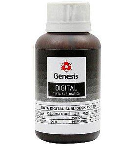 Tinta para Sublimação Digital Sublidesk Preto 100ml Gênesis (DS.7006) - 01 Unidade
