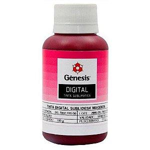 Tinta para Sublimação Digital Sublidesk Magenta 100ml Gênesis (DS.7002) - 01 Unidade