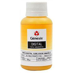 Tinta para Sublimação Digital Sublidesk Amarelo 100ml Gênesis (DS.7001) - 01 Unidade