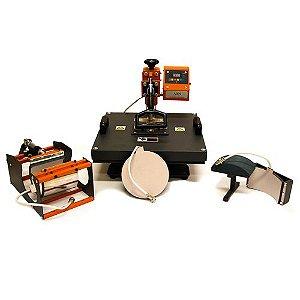 Prensa Térmica Combo 4x1 Mecolour P/Sublimação 110 Volts (A045) - 01 Unidade