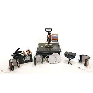 Prensa Térmica Premium Mecolour Multifuncional 8 em 1 P/Sublimação 220 Volts (A007) - 01 Unidade
