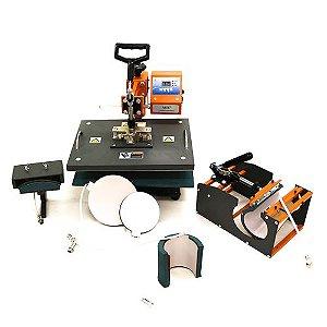 Prensa Térmica Premium Mecolour Multifuncional 8 em 1 P/Sublimação 220 Volts (A009) - 01 Unidade