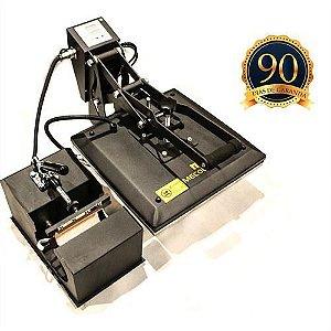 Prensa Térmica Plana 38x38cm Acoplada Prensa de Caneca Digital 220V Mecolour (A048) - 01 Unidade