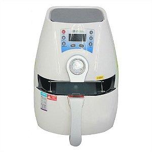 Mini Prensa Térmica Preta c/ Display Digital p/ Sublimação 3D à Vácuo 220V (Acompanha Kit c/ 27 Acessórios) (A015) - 01 Unidade