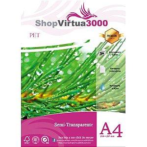 Adesivo Semi Transparente Vinil PET A4 (Laser) - 50 Folhas