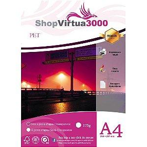 Adesivo Semi Transparente Vinil PET A4 (Jato de Tinta à prova d'água) - P040 - 20 Folhas