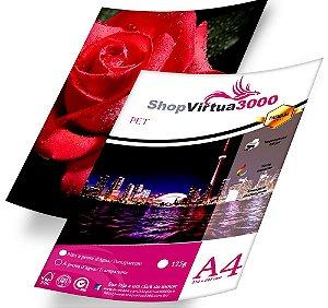 Adesivo Transparente Vinil PET Sublimático A4 (Jato de Tinta/Corante) - (P039) - 20 Folhas
