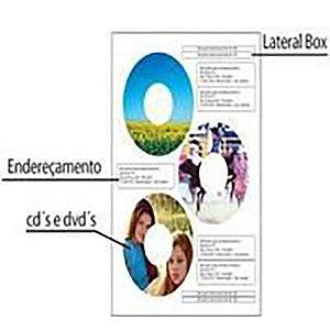 Etiqueta Para CD/DVD C/100 Folhas A4 Fosca C/3 etiquetas por folha (Embalagem OEM)