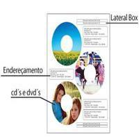 Etiqueta Para CD/DVD C/250 Folhas A4 Fosca C/3 etiquetas por folha (Embalagem OEM)