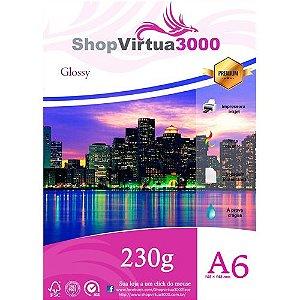 Papel Glossy 230g 10x15 cm A6 Quality (P034) - 100 folhas