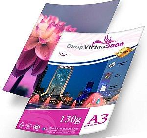 Papel Fotográfico Quality Matte (Fosco) A3 130g (P012) - 100 Folhas