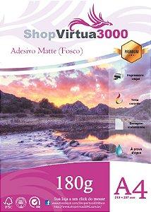 Papel Fotográfico Adesivo Matte (Fosco) 180g - A4 Quality (P081) - 100 Folhas